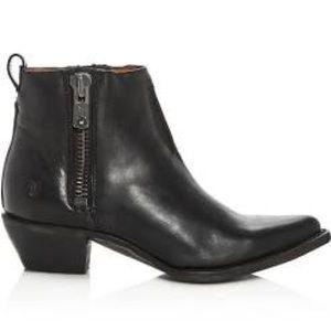 Frye Sacha Moto Shortie Black Ankle Boot 6.5 New